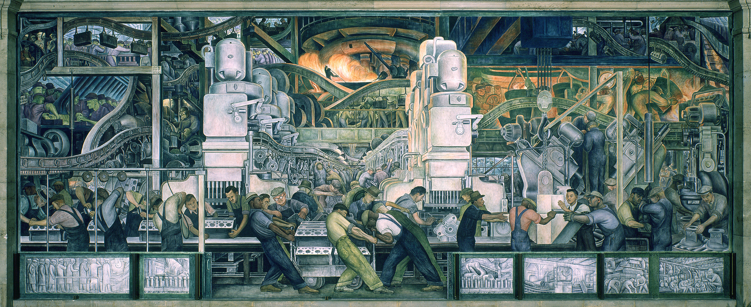 Penccil diego rivera for Detroit rivera mural
