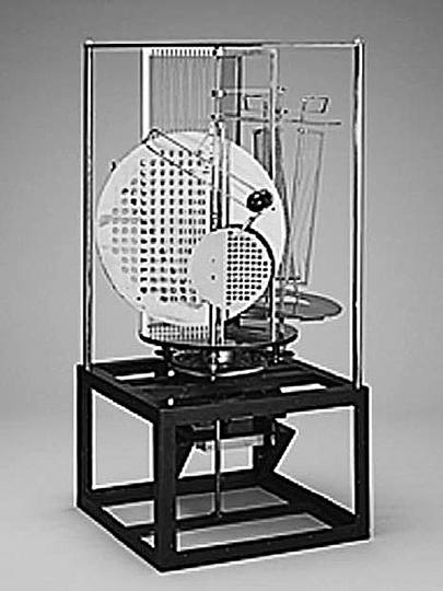 Bauhaus: Theatre Design: László Moholy-Nagy, Lighting accessories from an electric stage (reproduction from 2006), 1922/30