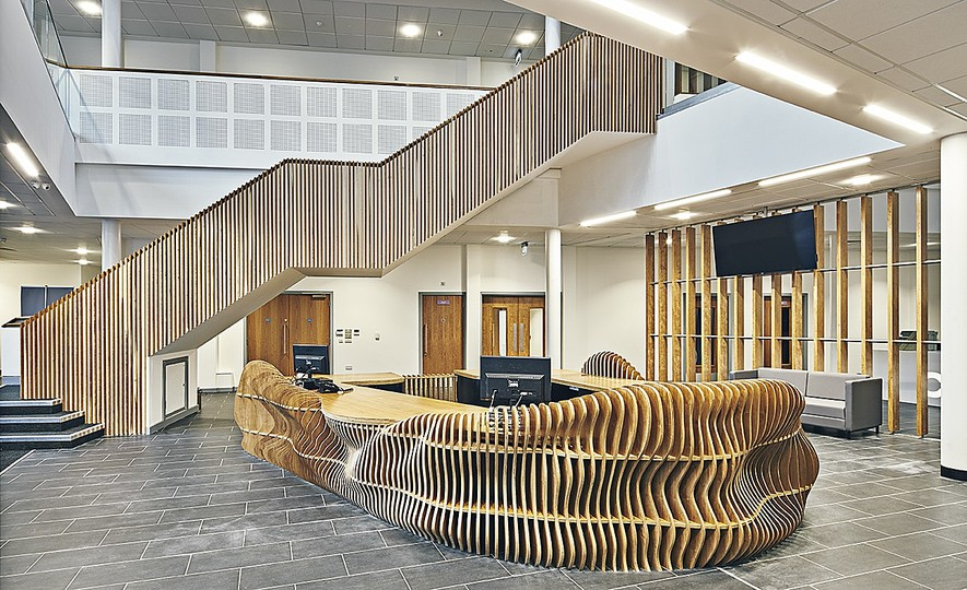 FLOW by Lazerian: FLOW compliments the interior design of the college campus