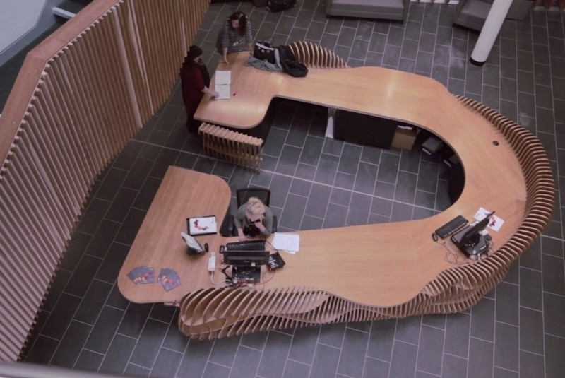 FLOW by Lazerian: FLOW desk installed at Clarendon College