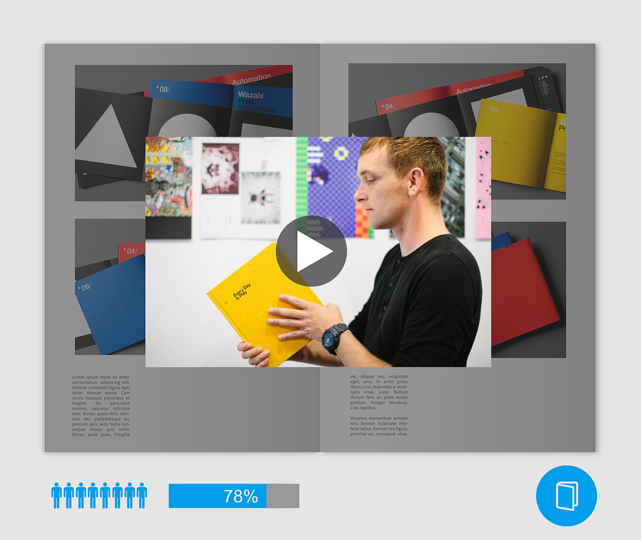 A digital ecosystem for illustrated books: A video statement by the prospective book author.