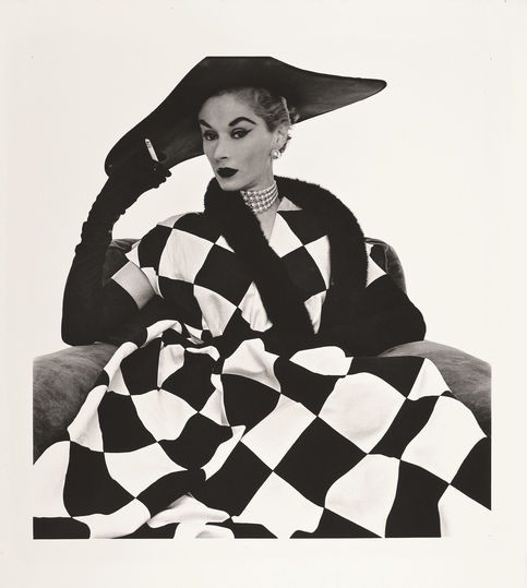 Woman. Black. White.: Irving Penn: Lisa Fonssagrives in Harlequin Dress