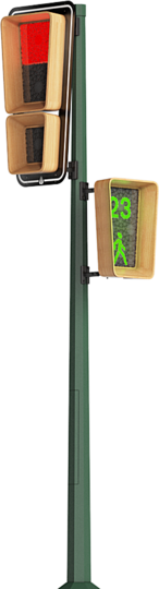 Traffic lights: Isiklarius is the world's first traffic light to use signal panels based on the PHOLED (phosphorescent organic light-emitting diode) technology.