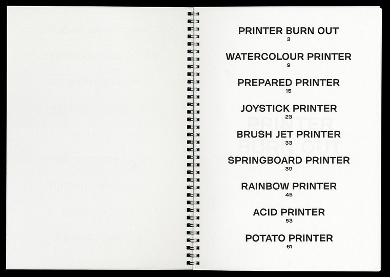 Xavier Antin: Printing at Home: