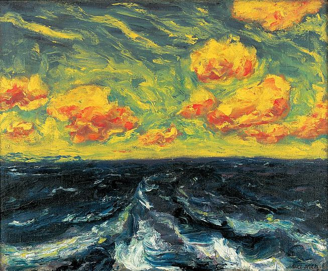 The Sea by Emil Nolde