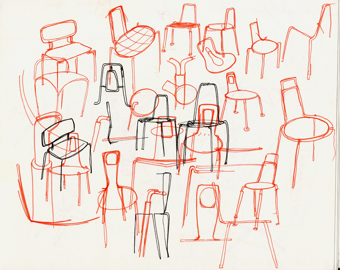 Sketches: Study for a small chair