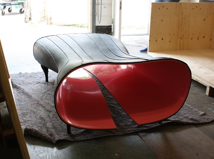 The Object of Desire, Sweet Jane: The Chaise Lounge being readied for shipping to Swizerland.