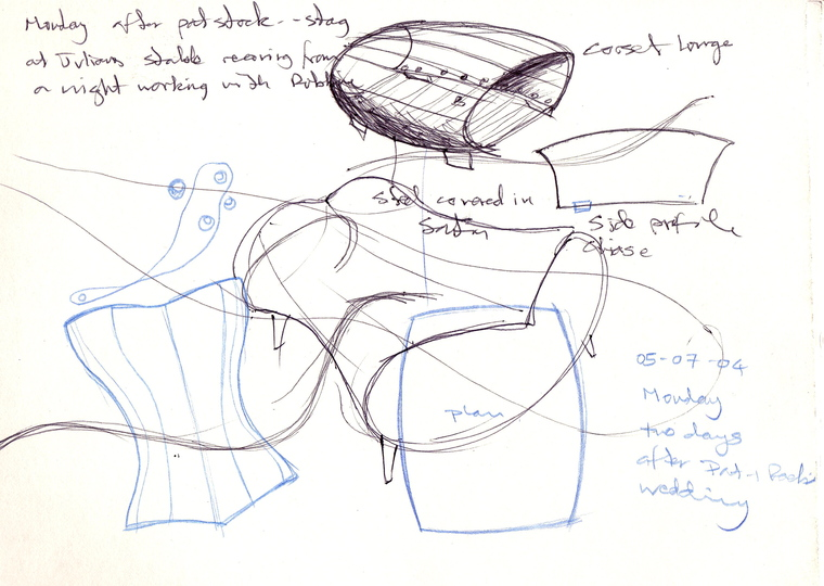 Sketches: Early sketch for The Object of Desire
