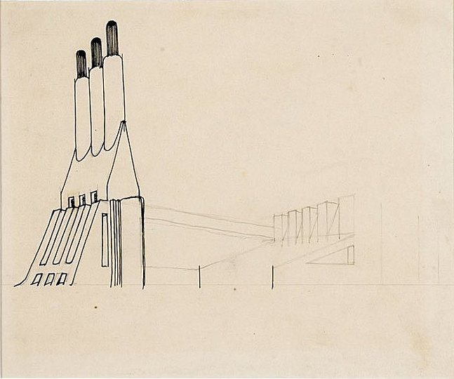 Antonio Sant´Elia: The house of concrete, glass and steel: