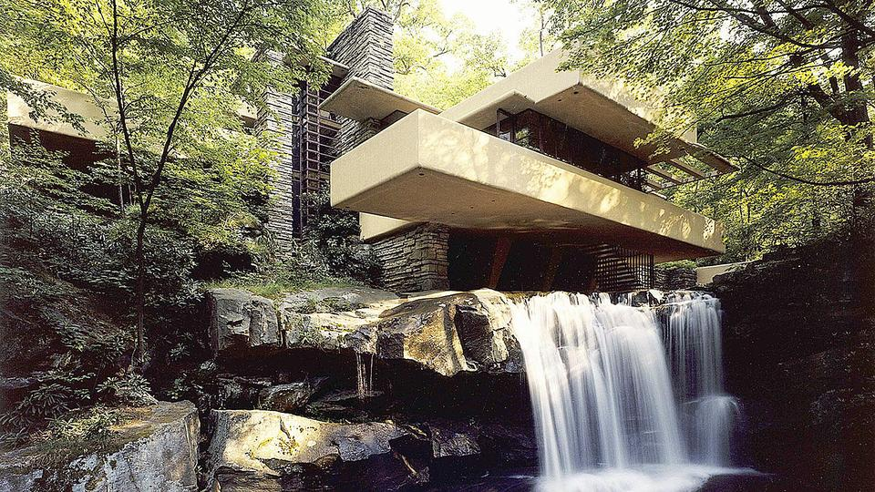 Fallingwater: The 'Fallingwater' house is one of Wright's most recognisable designs and is famous around the world.