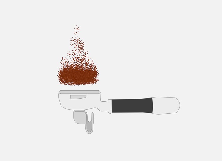 Coffee maker: Coffee falling.