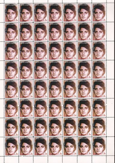 Who the f*** is Halil Altindere?: Welcome to the Land of Lost, 1998, Post stamps(12 pieces), each 12 x 29 cm, Courtesy the artist and Pilot, Istanbul.