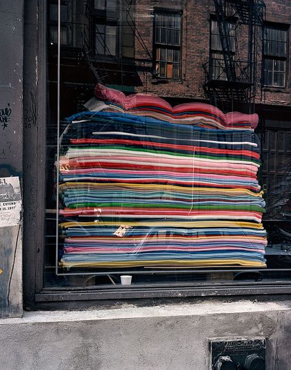Wayne Sorce:  Urban Color: Blankets, New York, 1986