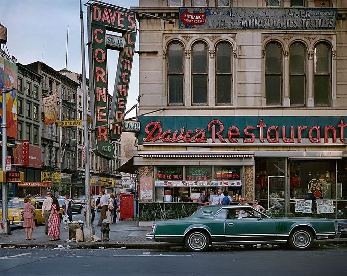 Wayne Sorce:  Urban Color: Dave's Restaurant, New York, 1984