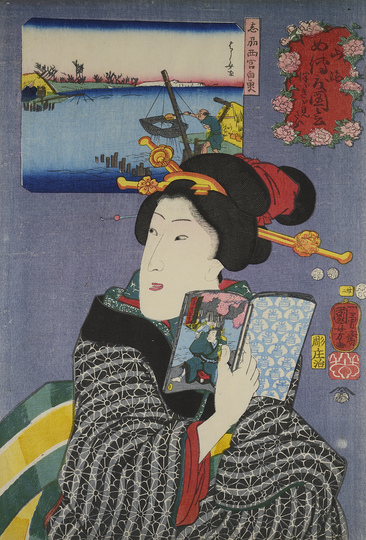 HOKUSAI X MANGA: Utagawa Kuniyoshi (1797-1861), 'I Want to See the Next One!', Japan, Edo, 1852, colour woodblock print, 36,2 × 24,6 cm, Museum für Kunst und Gewerbe Hamburg, © MKG