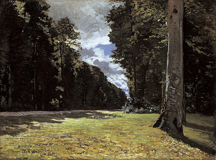 Monet and the Birth of Impressionism: Claude Monet (1840-1926), The Chailly Road through the Forest of Fontainebleau, 1865, oil on canvas, 97 x 130,5 cm. Ordrupgaard, Copenhagen. Photo: Pernille Klemp © Ordrupgaard, Copenhagen