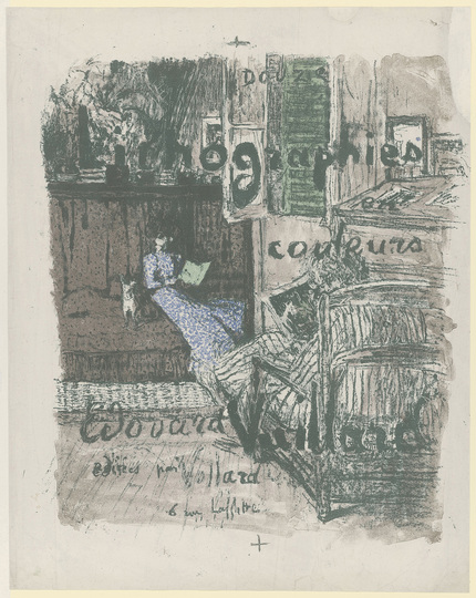 Édouard Vuillard: Turn of the Century Paris: Trial proof for the titlepage of: »Paysages et Intérieurs«, ca. 1899, Lithography, 587 × 463 mm (sheet size)  © Staatliche Graphische Sammlung München