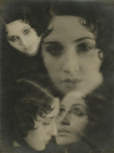 Paris Photo 2013: Jacques Henri Lartigue Renee Perle (multiple portrait), 1930-32, Gelatin silver print; printed c.1930-32 © Donation JH Lartigue, courtesy Howard Greenberg Gallery, New York  Exhibitor : HOWARD GREENBERG.