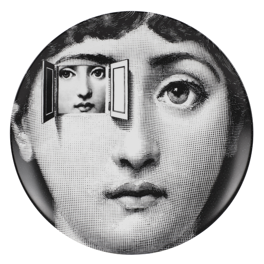 Objects of Desire: Piero Fornasetti, wall plate from the series Tema e Variazioni, after 1950 Courtesy of Fornasetti