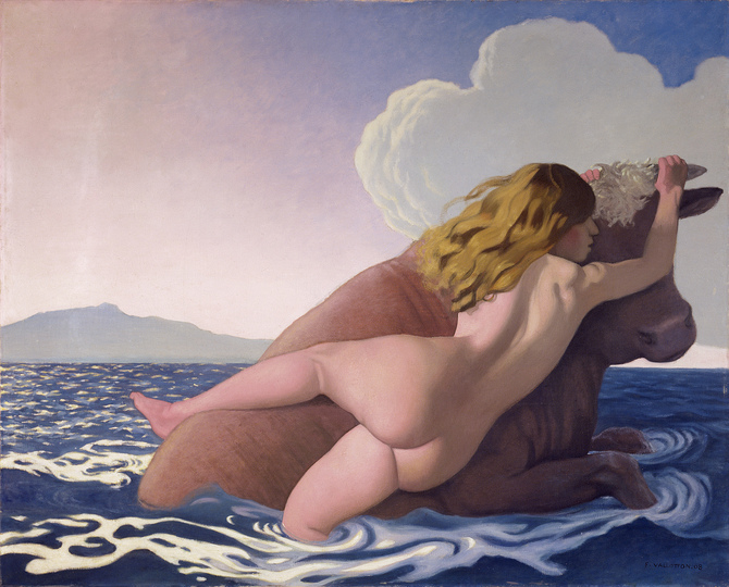 Europa ‒ Where it has been & Where it is at: Félix Vallotton, The Rape of Europa, 1908 Oil on canvas, 130 x 162 cm. Kunstmuseum Bern, gift of Prof. Hans R. Hahnloser, Bern