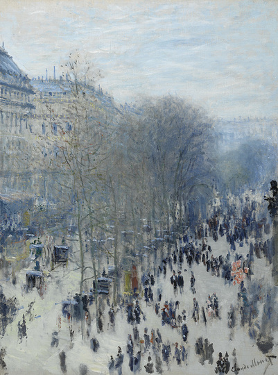 Monet and the Birth of Impressionism: Claude Monet (1840-1926), The Boulevard des Capucines, 1873-1874, oil on canvas, 80,3 x 60,3 cm. The Nelson-Atkins Museum of Art, Kansas City, Missouri. Photo: Jamison Miller © The Nelson-Atkins Museum of Art, Kansas City, Missouri
