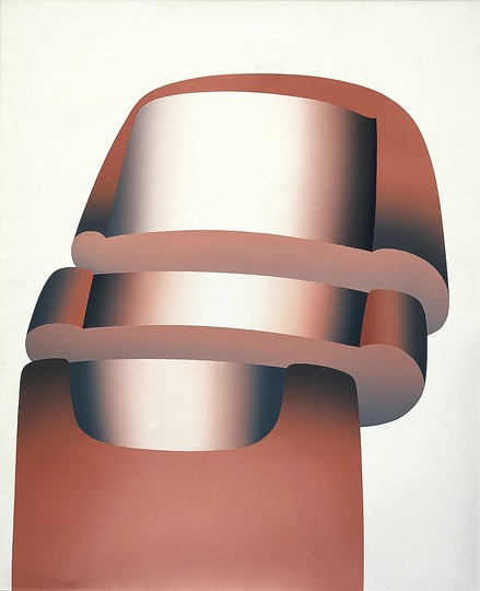 German Pop: Lambert Maria Wintersberger,  Spaltung 10 (Division 10), 1969, Acrylic on canvas, 140 x 115 cm. Museum Morsbroich, Leverkusen © VG Bild-Kunst, Bonn 2014 Photo: Friedrich Rosenstiel, Cologne