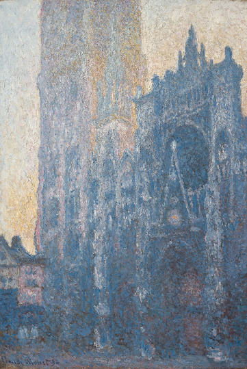 Monet and the Birth of Impressionism: Claude Monet (1840–1926) Rouen Cathedral: The Portal, Morning Effect, 1893-1894 Oil on canvas, 110 x 73 cm Fondation Beyeler, Riehen/Basel, Sammlung Beyeler Photo: Robert Bayer, Basel