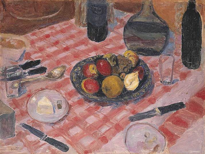 Pierre Bonnard: The Memory of Colors: The Ckeckered Table Cloth, 1916