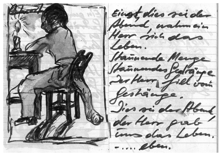 Günter Brus Draws with Friends: From the Notebook of Günter Brus in the 1970s.