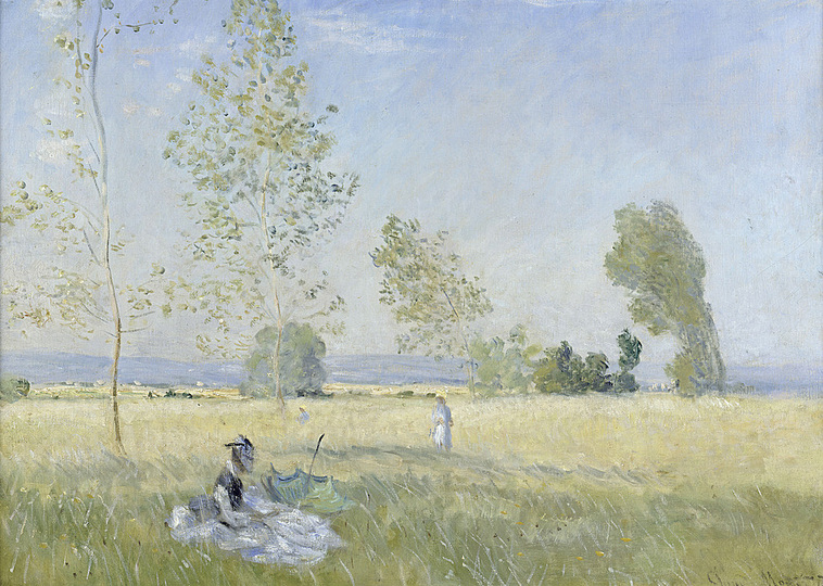 Monet and the Birth of Impressionism: Claude Monet (1840-1926), Summer (Meadow at Bezons), 1874, oil on canvas, 57 x 80 cm. Staatliche Museen zu Berlin, Nationalgalerie Photo: bpk / Nationalgalerie, SMB / Jörg P. Anders