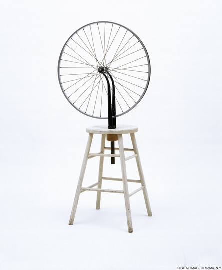 Objects of Desire: Marcel Duchamp, Roue de bicyclette, 1913 (1951) © 2019. Digital image, The Museum of Modern Art, New York/Scala, Florence, copyright for the works of Marcel Duchamp: © Association Marcel Duchamp/VG Bild-Kunst, Bonn 2019