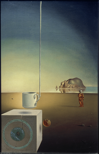 Objects of Desire: Salvador Dalí, Giant Flying Mocha Cup with an Inexplicable Five Metre Appendage, 1944/45 © akg-images, copyright for the works of Salvador Dalí: © Salvador Dalí, Fundació Gala-Salvador Dalí/VG Bild-Kunst, Bonn 2019