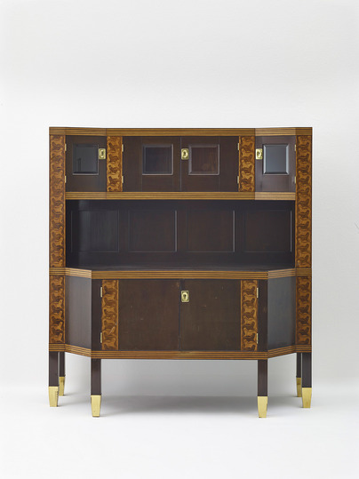 "Vienna 1900: Koloman Moser's style is summarized by Japanese influenced decorations for flat surfaces as well as on classic Biedermeier-era and domestic folk art heritage. Koloman Moser, Buffet Cabinet ""The Rich Haul"", Vienna, 1900. Manufacturer: Portois & Fix © MAK/Georg Mayer"