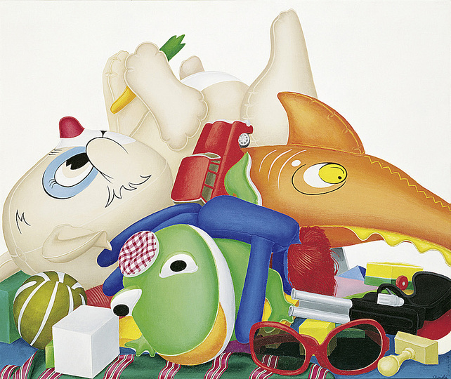 German Pop: Christa Dichgans, Stillleben mit Frosch (Still life with Frog), 1969, Private collection Courtesy Contemporary Fine Arts, Berlin Photo: Jochen Littkemann