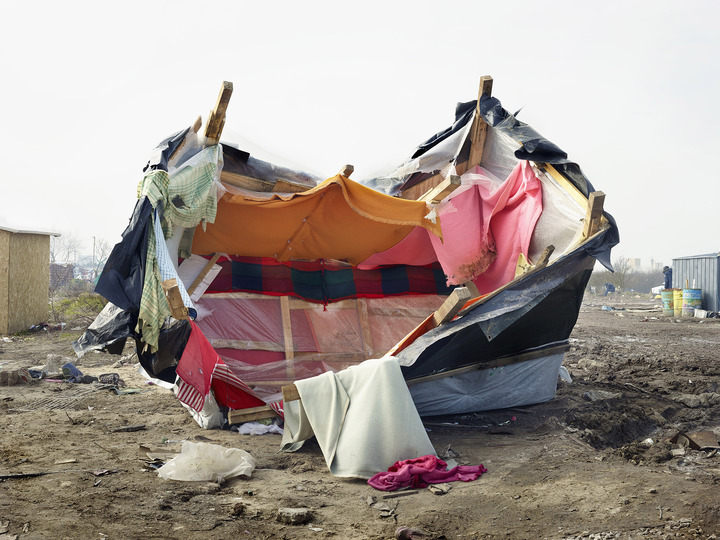 Design for Disaster: Calais, France, March 2016. Henk Wildschut, 2016. Courtesy of the artist. Courtesy: Insecurities: Tracing Displacement and Shelter, MoMA.