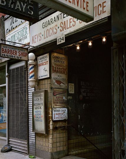 Wayne Sorce:  Urban Color: Barbers, New York, 1985