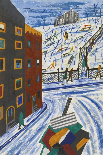 American Modern Paintings at Sotheby´s: Jacob Lawrence, City Collegge is Like a Beacon Over Harlem
