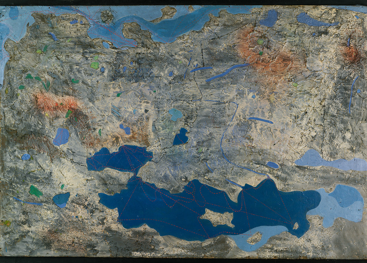 Europa ‒ Where it has been & Where it is at: Max Ernst, Europe After the Rain I, 1933 Oil paint, tempera on plywood, wood, plaster, fabric, 107 x 149 x 7 cm. Staatliche Kunsthalle Karlsruhe © 2015 ProLitteris, Zurich