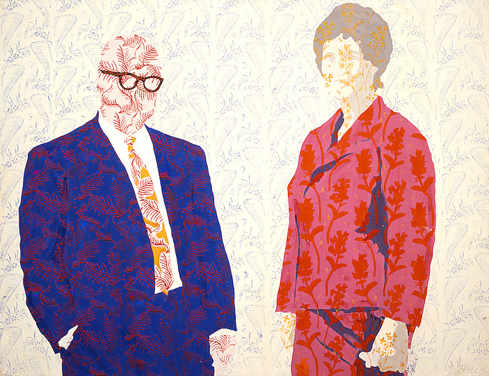 German Pop: Konrad Lueg, Herr und Frau S, 1965, Caseintempera on canvas 100 x 130 cm. Private collection Berlin © VG Bild-Kunst, Bonn 2014