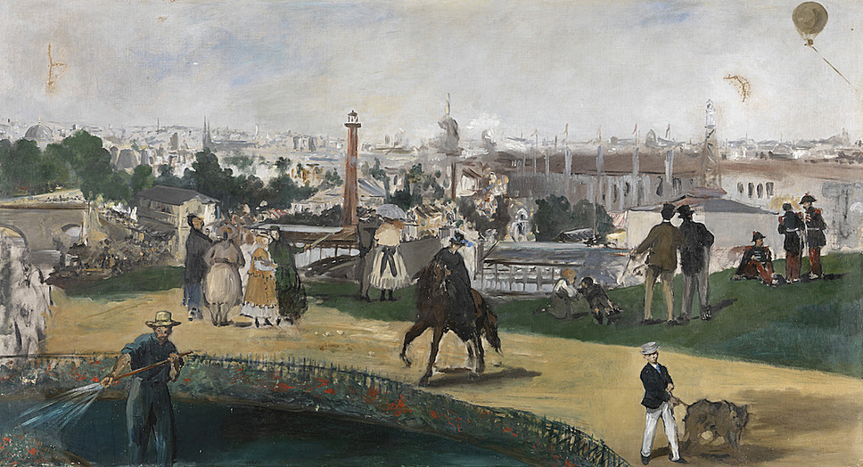Monet and the Birth of Impressionism: Edouard Manet (1832–1883), The Universal Exhibition of Paris 1867, 1867, Oil on canvas, 108 x 196,5 cm The National Museum of Art, Architecture and Design, Oslo Photo: The National Museum of Art, Architecture and Design, Oslo
