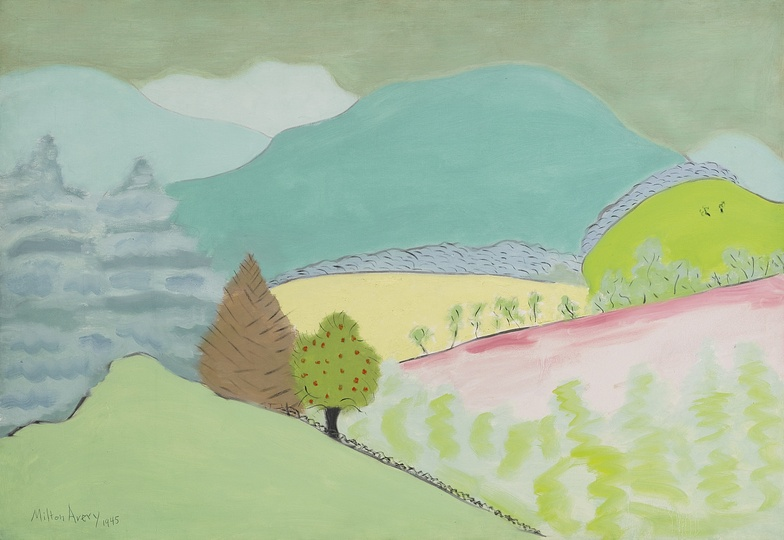 American Modern Paintings at Sotheby´s: Milton Avery, Spring in Vemont.