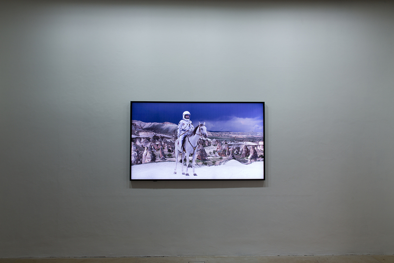 Who the f*** is Halil Altindere?: Installation view of video No Man's Land, 2012, Photo: Erich Malter.