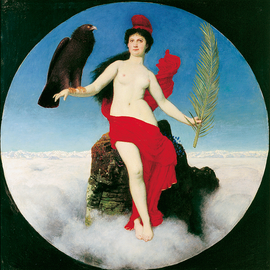 Europa ‒ Where it has been & Where it is at: Arnold Böcklin, Freedom, 1891 Tempera and oil on spruce wood, 96 x 96 cm. Kunsthaus Zürich, on long-term loan from the Nationalgalerie, Berlin