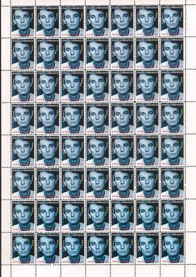 Who the f*** is Halil Altindere?: Welcome to the Land of Lost, 1998, Post stamps (12 pieces), each 12 x 29 cm, Courtesy the artist and Pilot, Istanbul.
