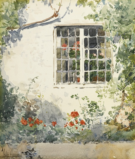 American Modern Paintings at Sotheby´s: Childe Hassam, Flowers Against a White Wall