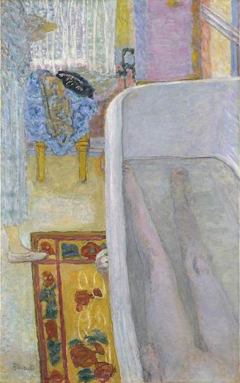 Pierre Bonnard: The Memory of Colors: Figure in the Bath Tub, 1925, Nu dans la baignoire, oil on canvas, 104,8 × 65,4 cm. Tate. Bequeathed by Simon Sainsbury 2006, accessioned 2008 © Tate, 2019