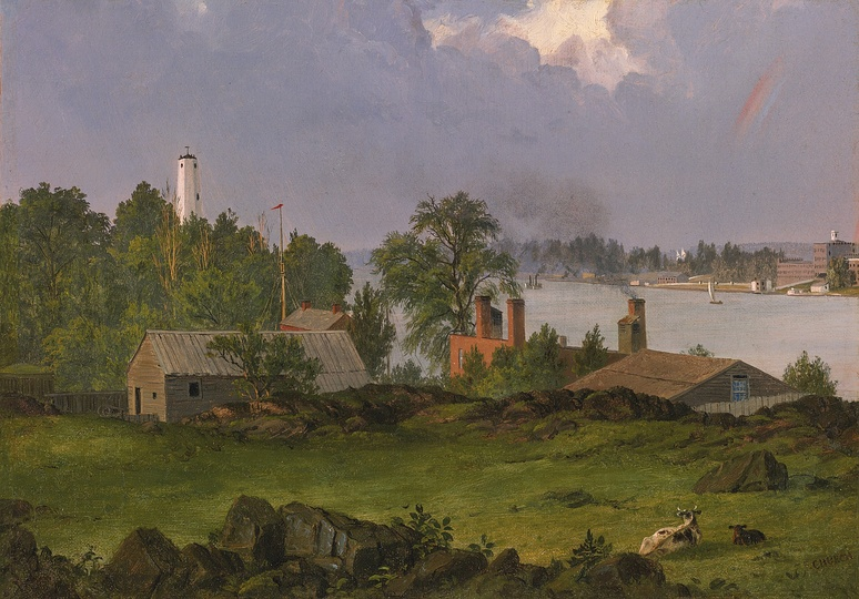 American Modern Paintings at Sotheby´s: Frederic Church, View of Blackwell's Island, New York