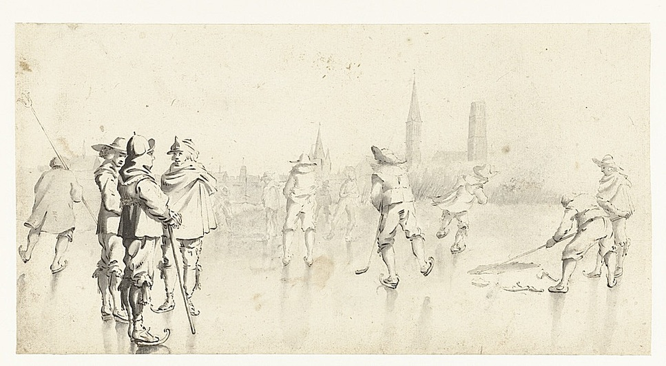 The Joys of Ice Skating: Schaatsers buiten Zwolle, Gerard ter Borch (II), ca. 1610 - 1640
