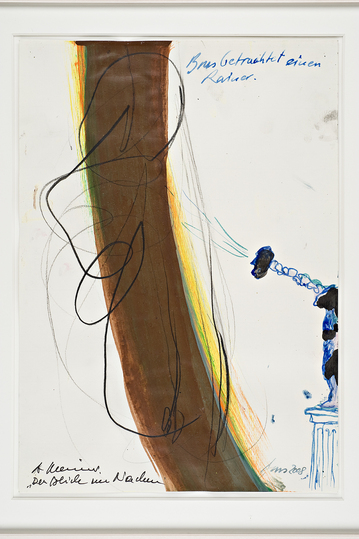 Günter Brus Draws with Friends: The Stare in the Neck, a collaboration of Günter Brus and Arnulf Rainer, 2008