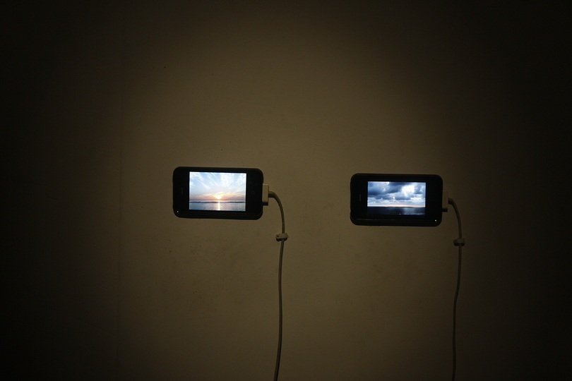 Kochi Biennale 2014: David Horvitz's 'The Distance of a Day' at Aspinwall House, Fort Kochi. Two videos  Colour  12 minutes each.
